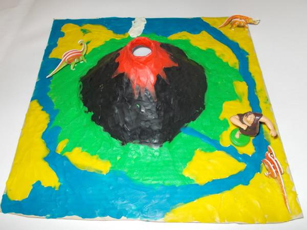 Как сделать вулкан из пластилина своими руками поэтапно 82