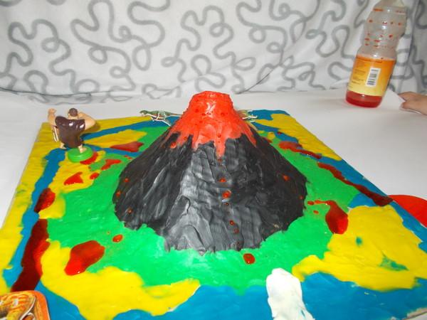 Вулкан из пластилина поэтапно