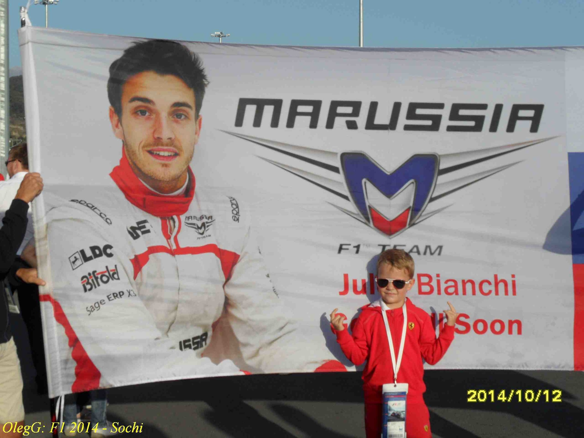 Support to Bianchi on the Sochi