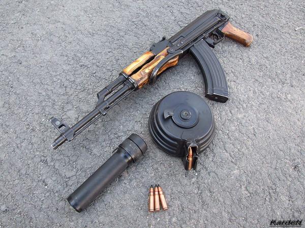 Автомат Калашникова модернизированный АКМС фото 9