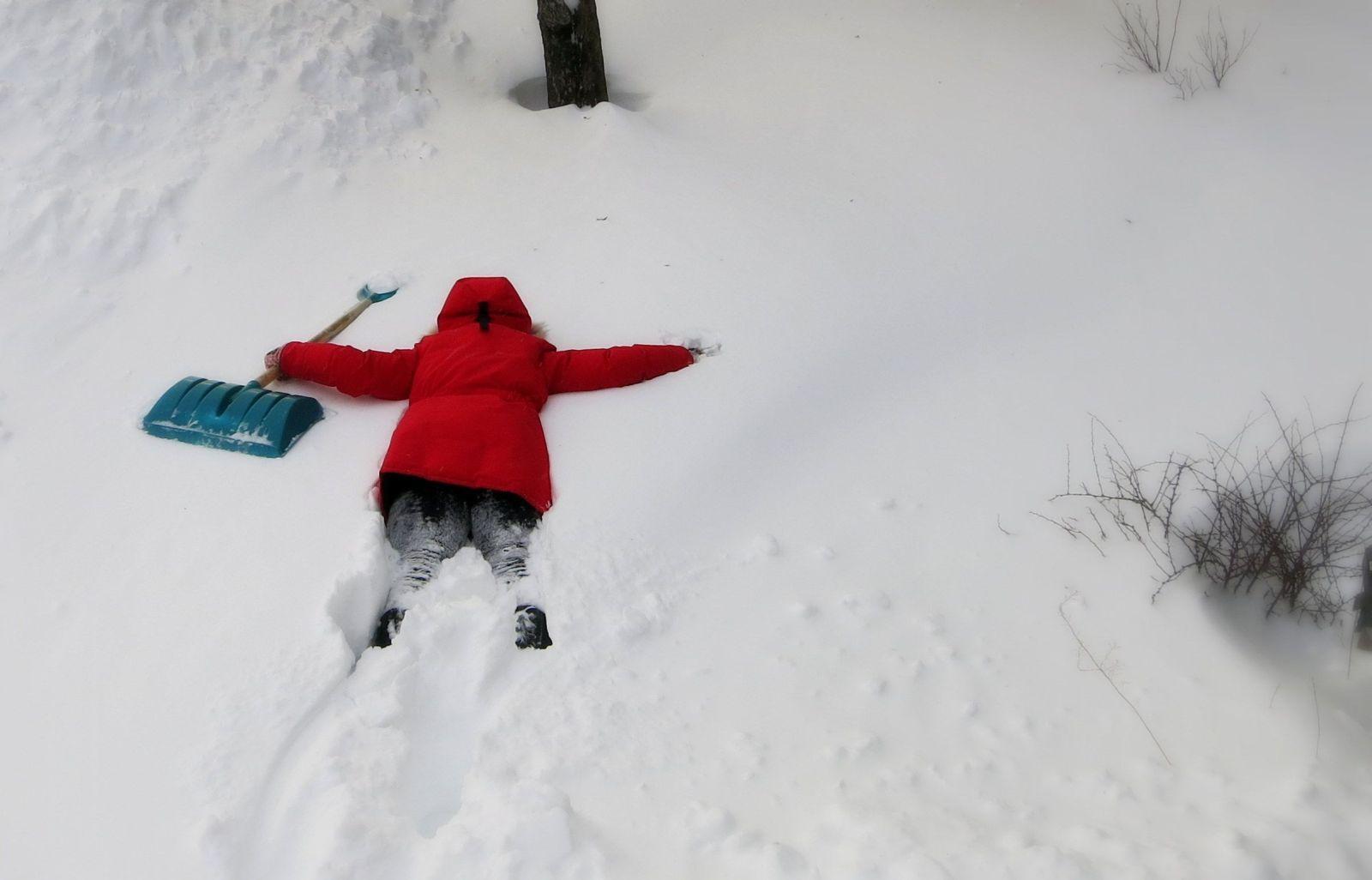 Смешные картинки снегопад